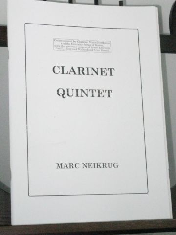 Neikrug M - Clarinet Quintet for Clarinet & Strings